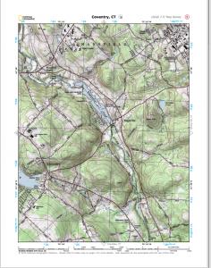 Coventry, CT - USGS 7.5 minute quad